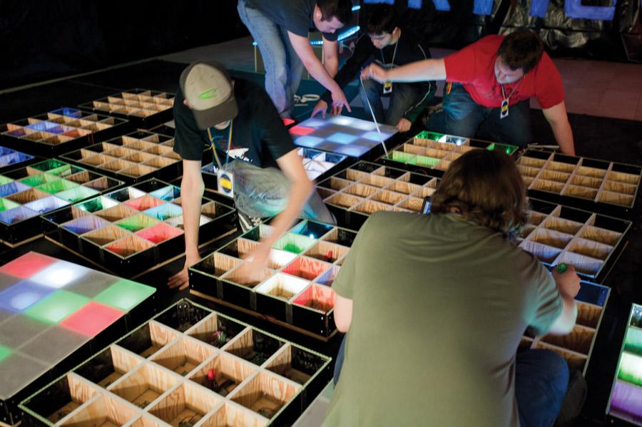 Behind the vertigo illuminated dance floor student life for Illuminated floor