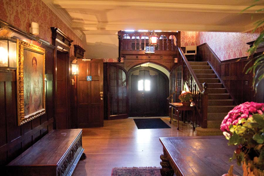 The lobby of the Whittemore House. Built in 1912, the House has supposedly  been