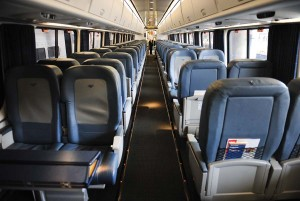 An inside Acela Express car is seen Washington, D.C., July 11, 2011. Amtrak has struggled for survival nearly every year since its first trains rolled out on May 1, 1971.
